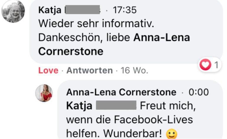 Testimonial von Katja